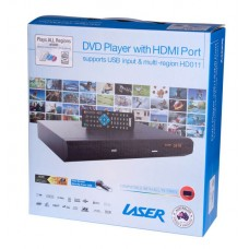 Laser DVD-HD011 HD Digital DVD Player HDMI RCA & Remote USB Port Multi Region