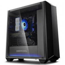 Deepcool Earlkase ATX Gaming Computer Case Tempered Glass Window RGB Strip Light
