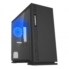Gamemax GM-H605 Black Mini ATX Case Full Side Window USB 3.0 + Sound Front Panel