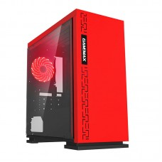 Gamemax GM-H605 Red Mini ATX Case Full Side Window USB 3.0 + Sound Front Panel