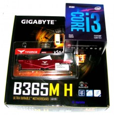 Gigabyte B365M H Motherboard + Intel i3-9100F Quad Core 3.6Ghz 1151 + 8GB DDR4