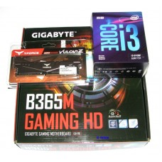 Gigabyte B365M Gaming Motherboard + Intel i3-9100F Quad Core 3.6Ghz  + 8GB DDR4