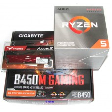 Gigabyte B450M Gaming + AMD Ryzen 5 3400G 4.2Ghz Quad Core + 8GB 2666 DDR4 Ram