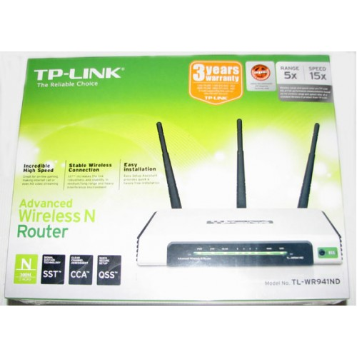 TP-Link TL-WR941ND 300M Wireless N Router, 3 Detachable
