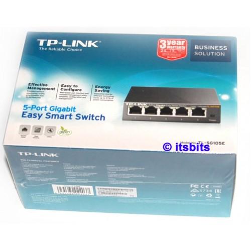 f06fc58b4 TP-Link TL-SG105E Gigabit 5 Port Easy Smart Switch 10 100 1000 Metal Case  SG105E