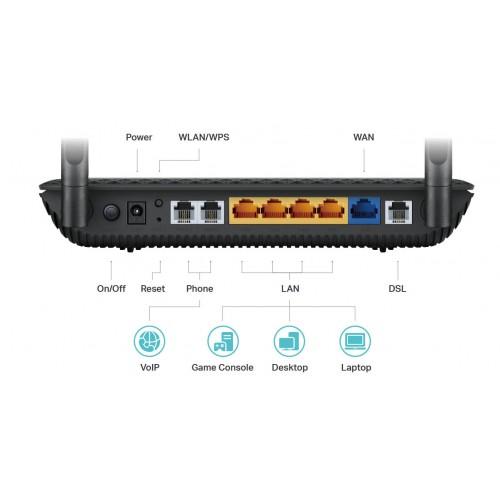 TP-Link Archer VR500v VDSL FTTN ADSL Wireless AC1200 Gigabit